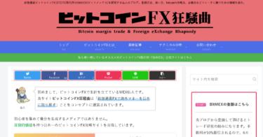 ビットコインFXのトレードに特化したブログとYouTubeチャンネルを運営しています